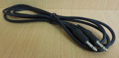 Audio Klinke Kabel mono 1,5m Klinke Stecker - Klinke Stecker schwarz* so625