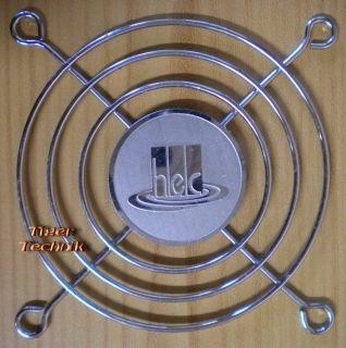 Fan Grill 80 x 80mm 8cm Lüfter Grill Gitter silber HEC* pz269