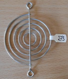 Fan Grill 64 x 64mm 6,4cm Lüfter Grill Gitter silber Sondermodell* pz273