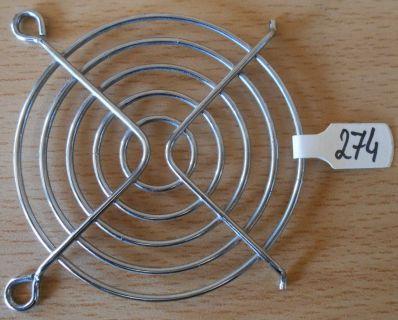 Fan Grill 64 x 64mm 6,4cm Lüfter Grill Gitter silber Sondermodell* pz274