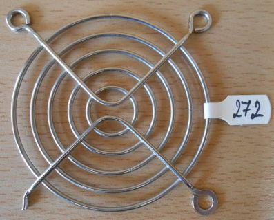 Fan Grill 64 x 64mm 6,4cm Lüfter Grill Gitter silber Sondermodell* pz272
