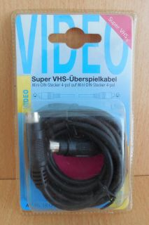 BigBalloon S VHS SVHS Kabel 1,5m 4-pol Mini DIN Stecker 4-pol Mini DIN St.*so630