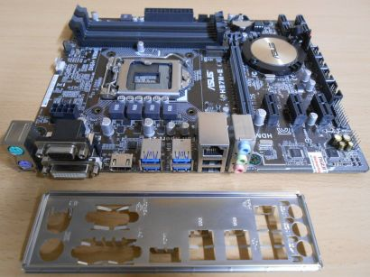 Asus H97M-E Rev 1.04 Mainboard +Blende Intel H97 M Sockel 1150 PCIe DDR3* m724