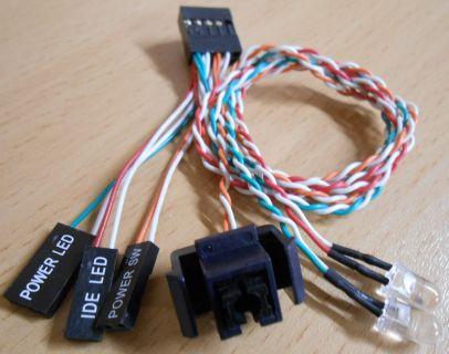 Asus Barebone P3-P5G31 P5G33 PH4C PH5X PUNDIT-PH3 usw PowerSchalter 2 LED* pz278