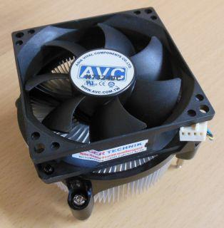HP Compaq AVC 441409-001 80mm 4-pol Sockel 775 CPU Lüfter dx2300 MT* ck203