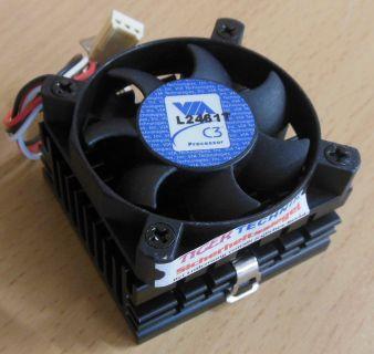VIA C3 Processor Kühler L2461T - Sockel Intel 370 AMD A 462 CPU Lüfter* ck231