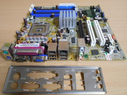 Asus P5GD1-VM X Rev 1.06 Mainboard +Blende Sockel 775 Pundit PH3 DDR PCIe* m730