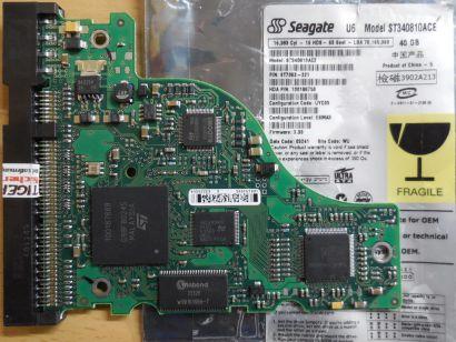 Seagate U6 ST340810ACE IDE 40GB PCB Controller Elektronik Platine* fe180