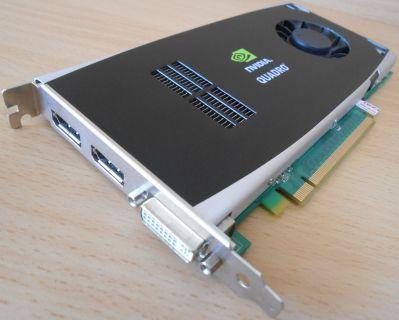 NVIDIA QUADRO FX 1800 768MB GDDR3 192Bit 1xDVI 2xDisplayport Grafikkarte* g316