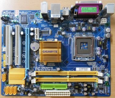 Gigabyte GA-G31M-ES2L Rev 1.1 Mainboard +Blende Sockel 775 DDR2 PCIe GBLAN* m737