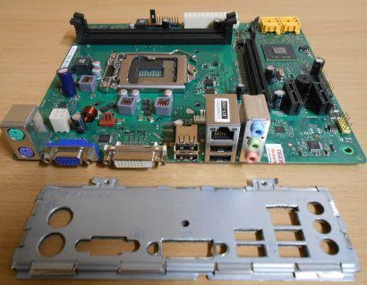 Fujitsu D2990-A11 GS3 Mainboard +Blende Sockel 1155 Intel H61 Esprimo P400* m738