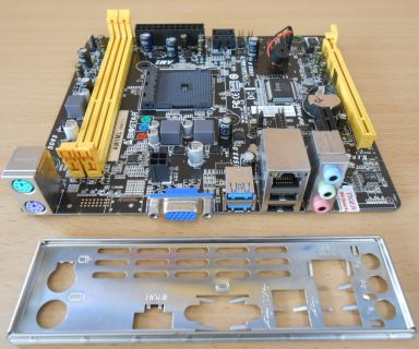 Biostar AM1ML Ver7.1 Mainboard +Blende AMD Sockel AM1 DDR3 USB3.0 VGA PCIe* m740