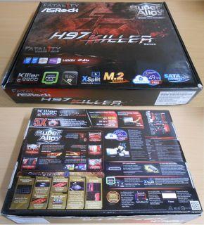 ASRock Fatal1ty H97 Killer Gaming Mainboard + Blende Intel H97 Sockel 1150* m742