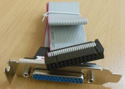 Parallel LPT Slotblech Drucker Port 25-pol Flachband Low Profile Blende* pz343