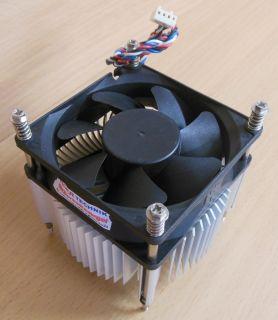Intel Sockel 775 80mm 4-pol Kupfer + Aluminium Prozessorkühler CPU Lüfter* ck285