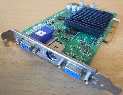 ASUS V9180 2CTV 64M 4MBO Rev1.01 nVIDIA AGP8x 64MB 128Bit 2xVGA TV-Out* g327