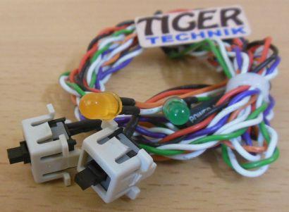 Standard Power und Reset Schalter + Halterungen mit Power und HDD LEDs* pz365
