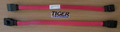 HP PN 5188-2897 2x SATA Kabel 16.5cm 6.5 Zoll mit Sicherheitslasche rot* pz366