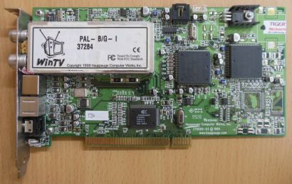 Hauppauge WinTV 37284 PAL-BG-I FM TV S-VIDEO 8-pol Audio PCI TV Karte* tk52