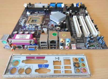 ECS RC415ST-HM Rev1.1 HP Asterope5-GL8E 5188-6059 Mainboard +Blende So 775* m770