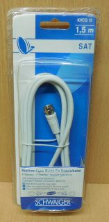 Schwaiger SAT Antennen Kabel Quick Fix Koaxkabel 1,5m F Stecker F Stecker* so675
