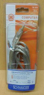 Schwaiger CK 1573 USB 2.0 Kabel 3m Typ A Stecker Typ B Stecker* so678