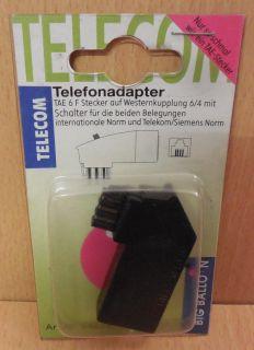 BigBalloon Telefon Adapter TAE F auf Western zum Anschluss von Telefon* so687