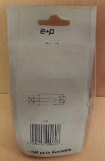 e+p B 50 Kabel Würfelstecker auf Würfelkupplung 5m schwarz* so689