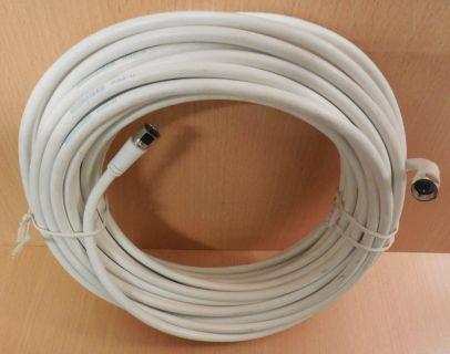 Schwaiger SAT Kabel Antennenkabel weiß 15m F-Stecker F-Stecker* so692