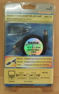 hama 00 034048 IEEE1394 Firewire Anschlusskabel Set universell max. 1m* so700