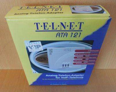Telnet ATA 121 Analog Telefon Adapter für VoIP Telefonie NEU OVP* so705