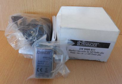 Schwaiger GW 9000 Gleichstromweiche SAT Finder plus SF 9000 18VDC Netzteil*so706
