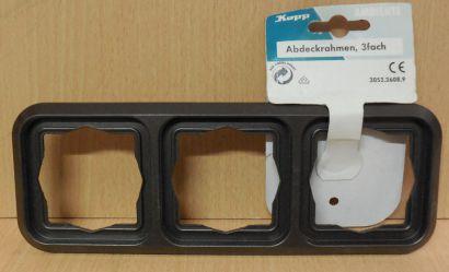 Kopp Abdeckrahmen 3 fach Ambiente palisander braun 3053.2608.9 Unterputz* so713