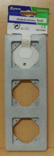 Kopp Abdeckrahmen 3 fach Europa granit grau 3033.3408.9 Unterputz* so715