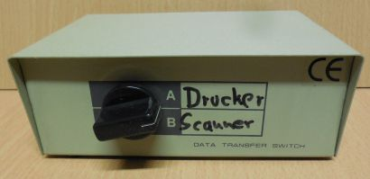 Data Transfer Switch Parallel 2 fach mechanisch manueller Schalter* so726