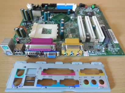 MSI MS-6378 Ver 1 Mainboard + Blende Sockel A 462 VGA Audio SD-RAM PCI CNR* m780