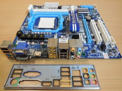 Gigabyte GA-880GM-UD2H Rev1.3 Mainboard+Blende AMD 880 Sockel AM3 PCIe DDR3*m781