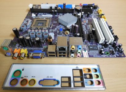 Packard Bell Rio 3 ECS RC415ST-PM Rev 1.0 Mainboard +Blende Sockel 775* m785