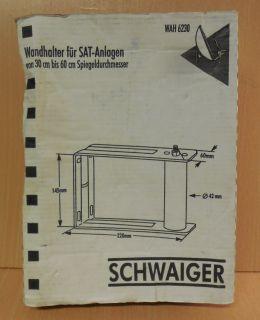 Schwaiger Wandhalter WAH6230 für SAT Anlagen 30cm-60cm Spiegeldurchmesser* so738