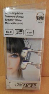 Schwaiger KHI 140 Stereo Kopfhörer in Ear 102dB 3,5mm MP3 1,5m Kabellänge* so741