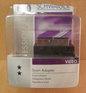 Schwaiger SCA 7320 531 Scart S VHS Adapter 3x Cinch Scart In Out* so742
