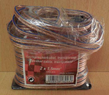 Vivanco HPCL A15 10m Lautsprecherkabel 2x 1,5 mm² geeignet zum Verlegen* so744