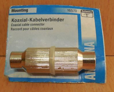 Skymaster Antenne 16570 Koaxial Kabelverbinder metall Antenna Koax* so761