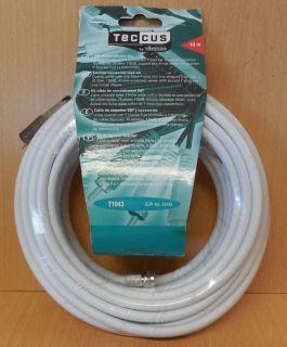 Teccus by Vivanco SAT Koaxialkabel 10m 110db Antennenkabel zum Verlegen*so739