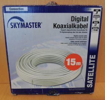 Skymaster 3510 SAT Koaxialkabel 15m 75db Antennenkabel zum Verlegen*so754