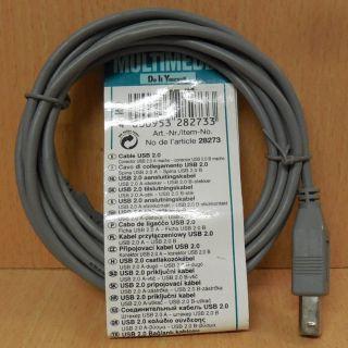 Skymaster 28273 USB 2.0 Kabel grau 2m Typ A Stecker Typ B Stecker* so768