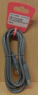 Vivanco PS B CK15 18 USB 2.0 Kabel grau 1,8m Typ A Stecker Typ B Stecker* so776