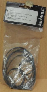 lumberg VDL442 Cinch Kabel Audioleitung 2m High Quality Metall Griffkörper*so778