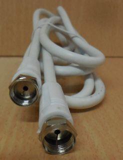 SAT Anschlusskabel Kabel Antennenkabel 1,5m F Stecker F Stecker weiß* so786