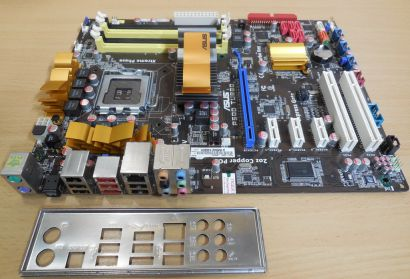 Asus P5QD Turbo Rev1.00G Mainboard +Blende So775 P45 FSB1600 DDR2 SATA PCIe*m788
